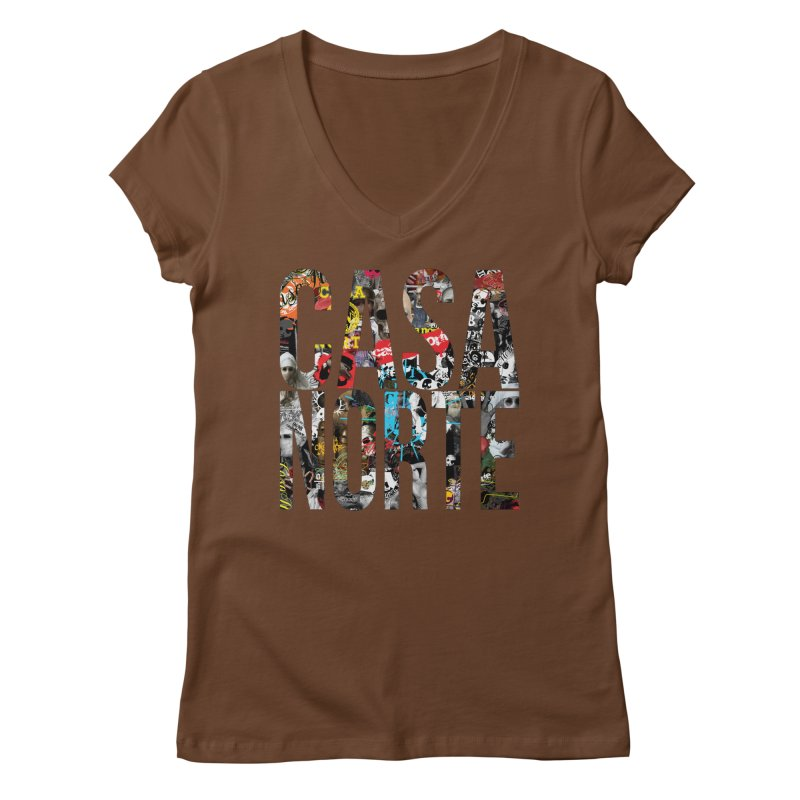 CasaNorte - CNWorldLetters Women's Regular V-Neck by Casa Norte's Artist Shop