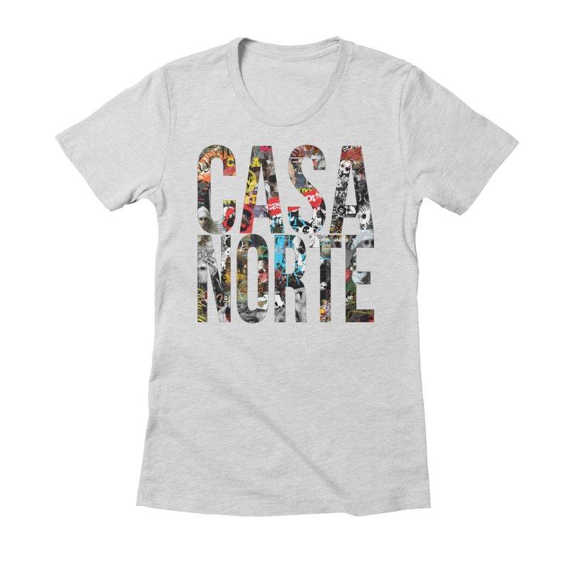 CasaNorte - CNWorldLetters Women's Fitted T-Shirt by Casa Norte's Artist Shop