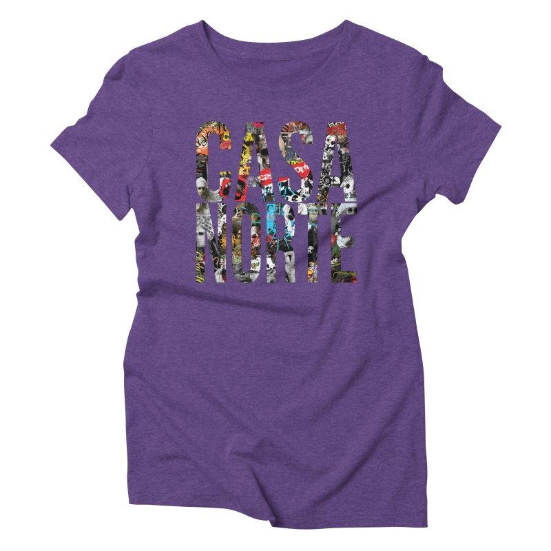 CasaNorte - CNWorldLetters Women's Triblend T-Shirt by Casa Norte's Artist Shop