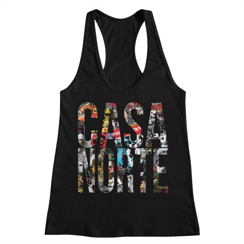 CasaNorte - CNWorldLetters Women's Racerback Tank by Casa Norte's Artist Shop