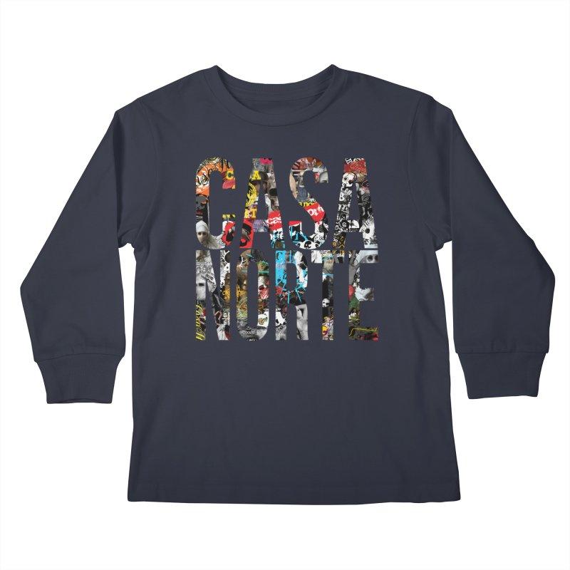 CasaNorte - CNWorldLetters Kids Longsleeve T-Shirt by Casa Norte's Artist Shop
