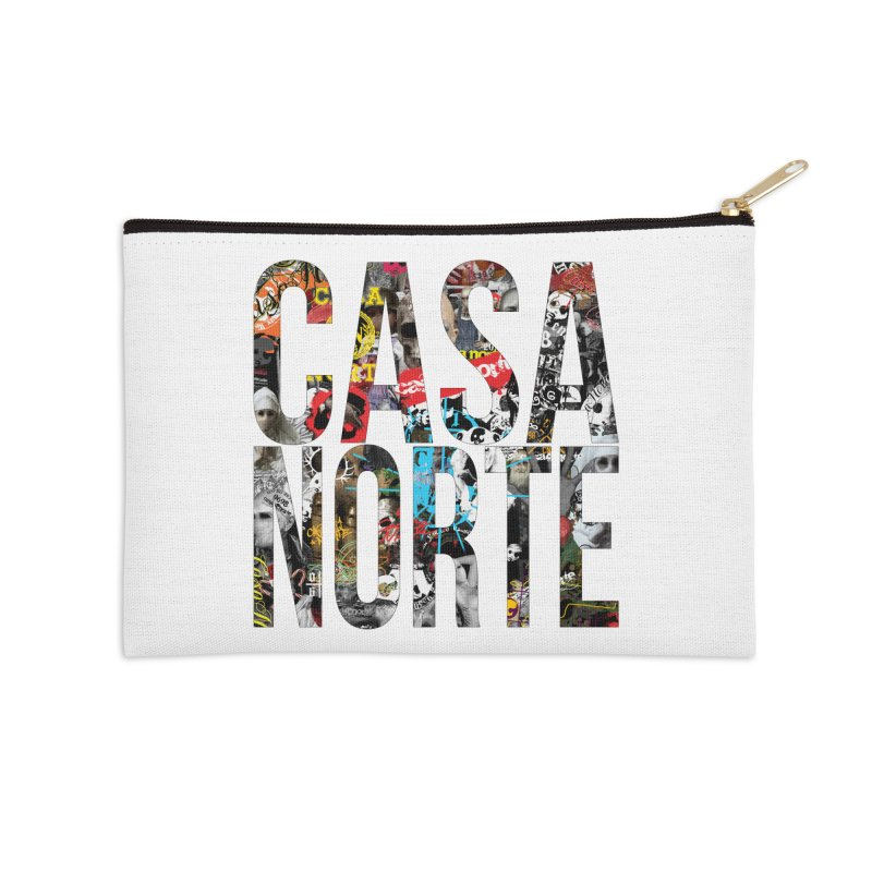 CasaNorte - CNWorldLetters Accessories Zip Pouch by Casa Norte's Artist Shop