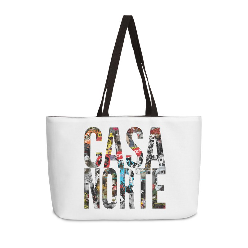 CasaNorte - CNWorldLetters Accessories Weekender Bag Bag by Casa Norte's Artist Shop