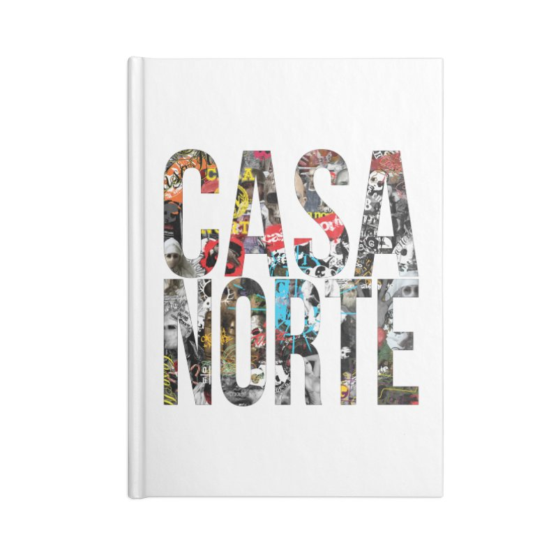 CasaNorte - CNWorldLetters Accessories Blank Journal Notebook by Casa Norte's Artist Shop