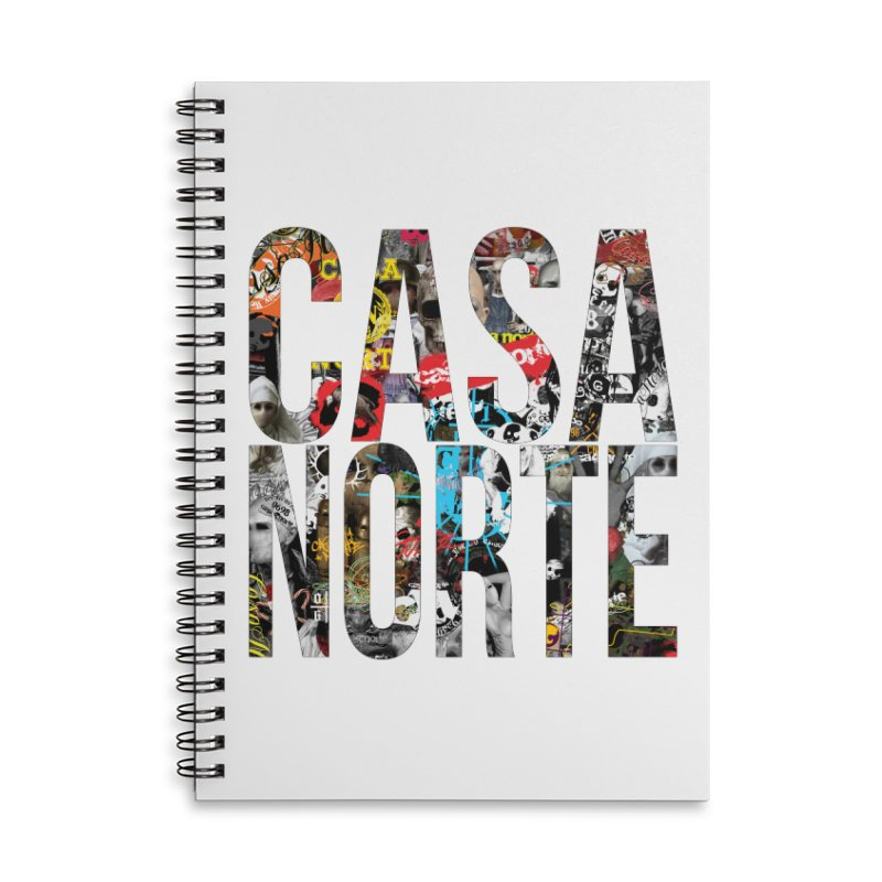 CasaNorte - CNWorldLetters Accessories Lined Spiral Notebook by Casa Norte's Artist Shop