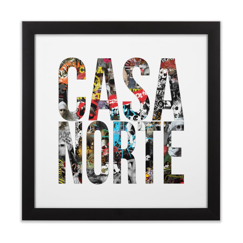 CasaNorte - CNWorldLetters Home Framed Fine Art Print by Casa Norte's Artist Shop