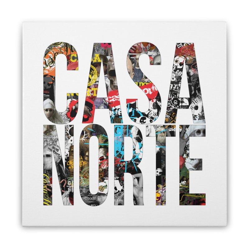 CasaNorte - CNWorldLetters Home Stretched Canvas by Casa Norte's Artist Shop