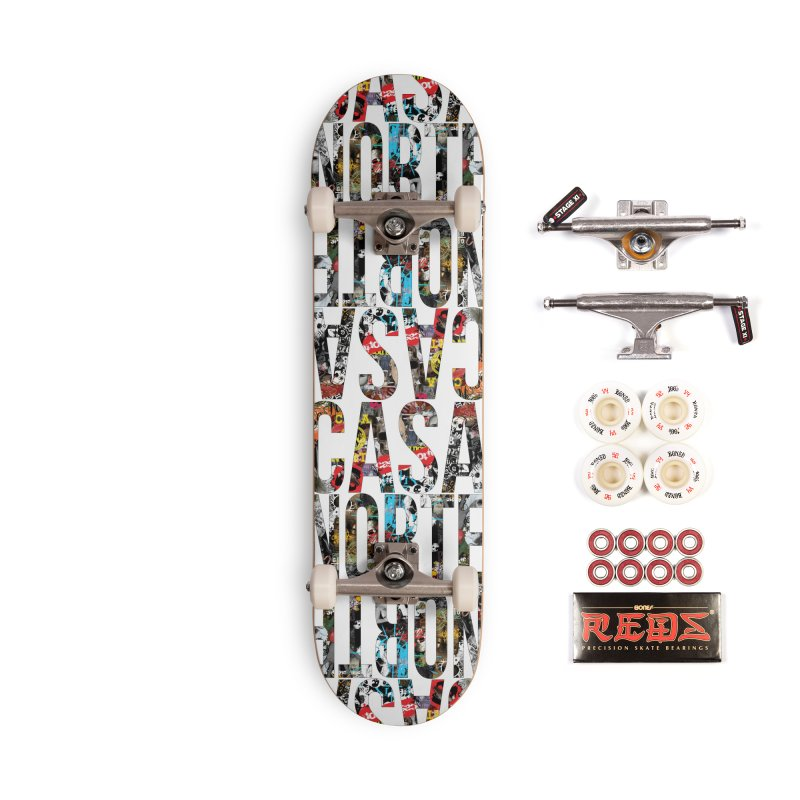 CasaNorte - CNWorldLetters Accessories Complete - Pro Skateboard by Casa Norte's Artist Shop