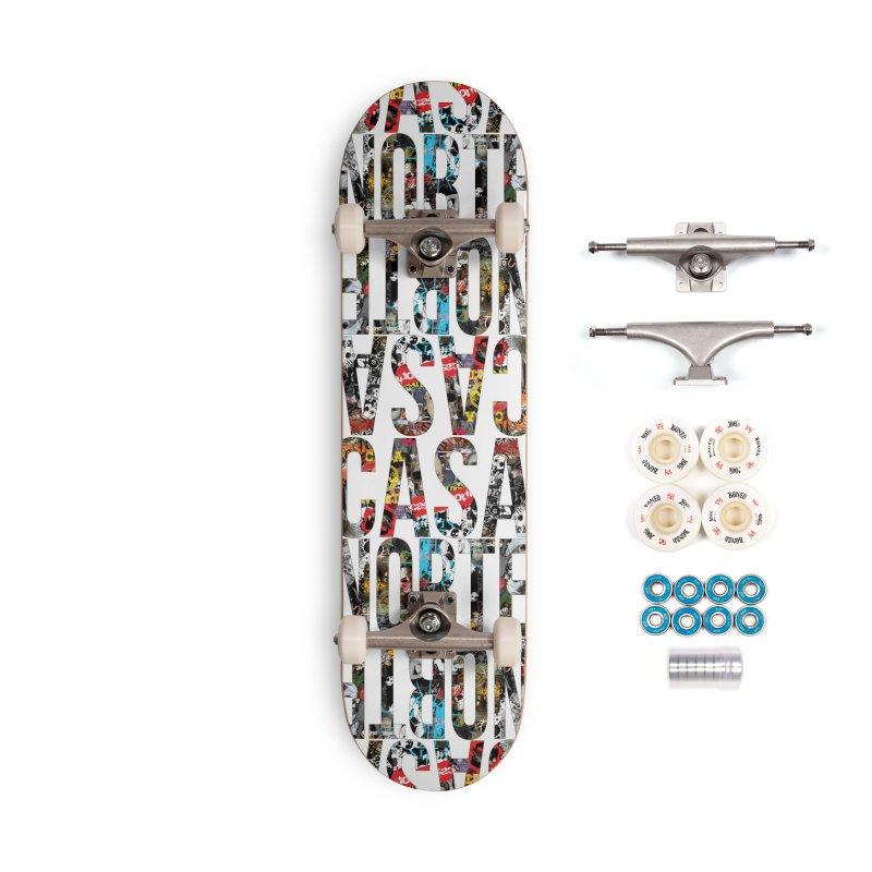 CasaNorte - CNWorldLetters Accessories Complete - Premium Skateboard by Casa Norte's Artist Shop