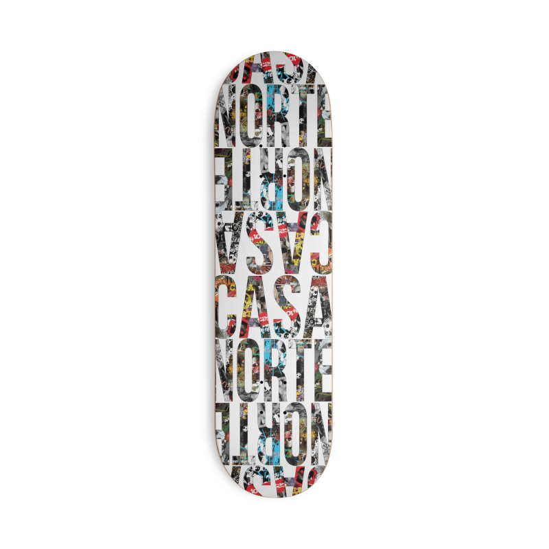 CasaNorte - CNWorldLetters Accessories Deck Only Skateboard by Casa Norte's Artist Shop