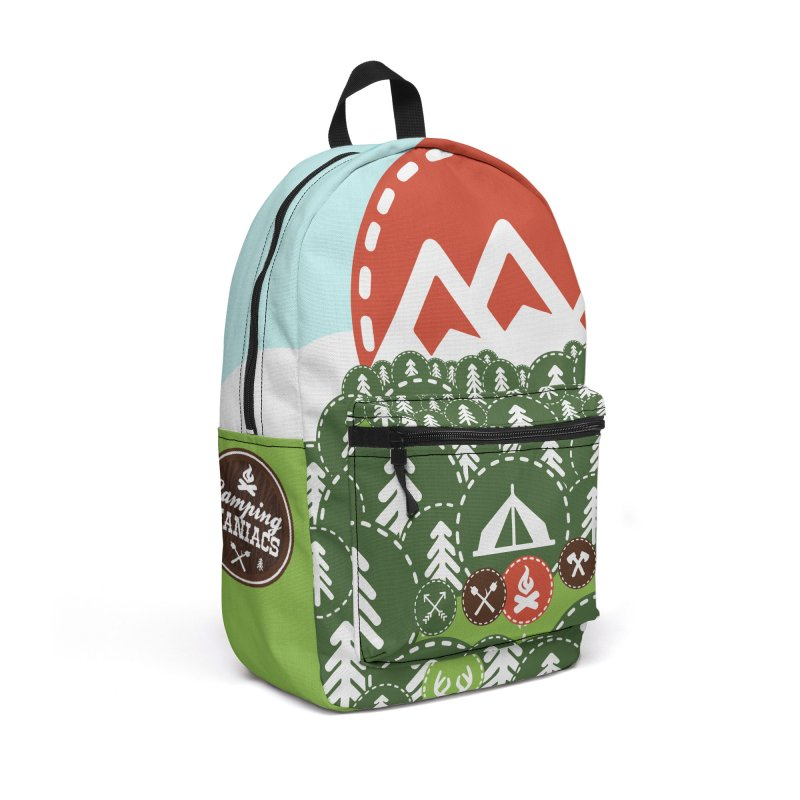 Camping Maniacs - Camp Accessories Backpack Bag by Casa Norte's Artist Shop