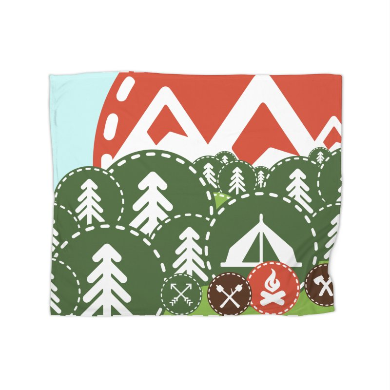 Camping Maniacs - Camp Home Blanket by Casa Norte's Artist Shop