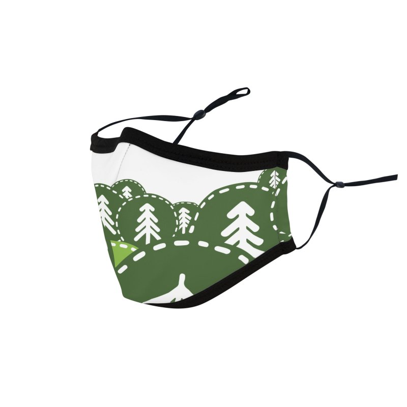 Camping Maniacs - Camp Accessories Face Mask by Casa Norte's Artist Shop