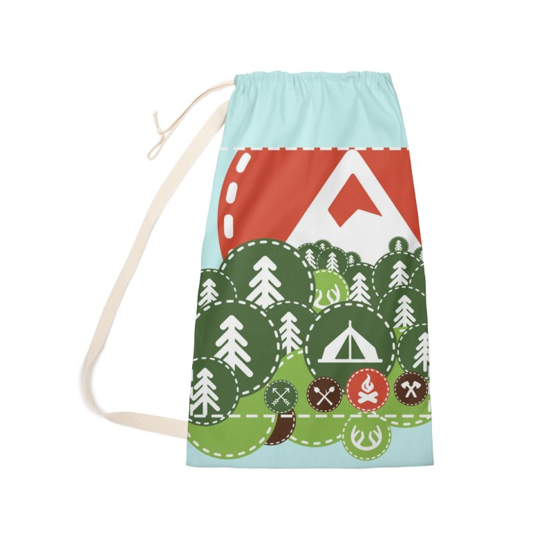 Camping Maniacs - Camp Accessories Laundry Bag Bag by Casa Norte's Artist Shop