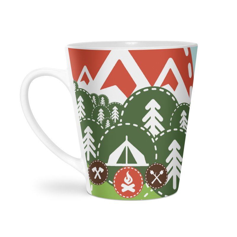 Camping Maniacs - Camp Accessories Latte Mug by Casa Norte's Artist Shop