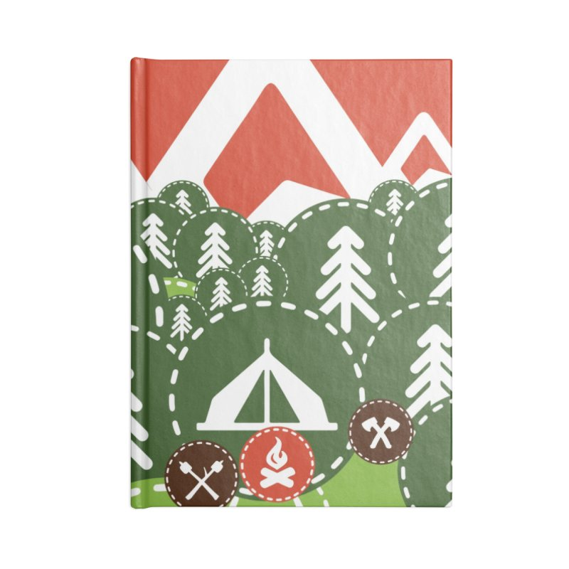 Camping Maniacs - Camp Accessories Lined Journal Notebook by Casa Norte's Artist Shop