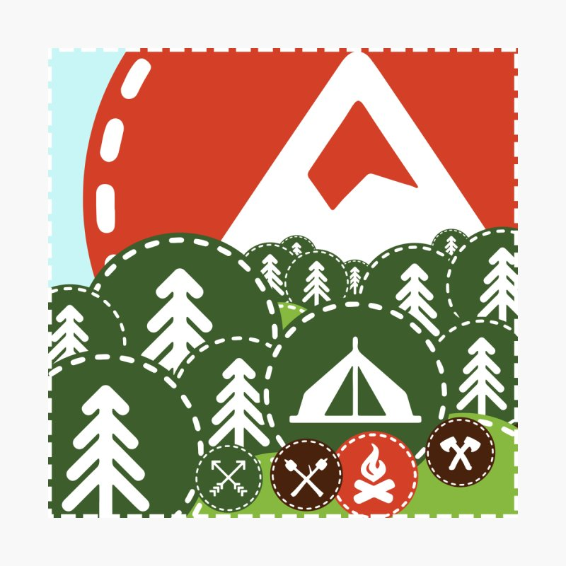 Camping Maniacs - Camp by CasaNorte's Artist Shop