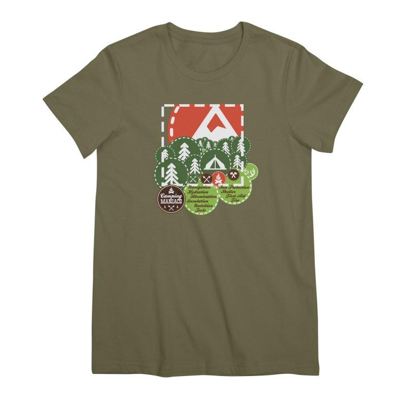 Camping Maniacs - Camp Women's Premium T-Shirt by Casa Norte's Artist Shop