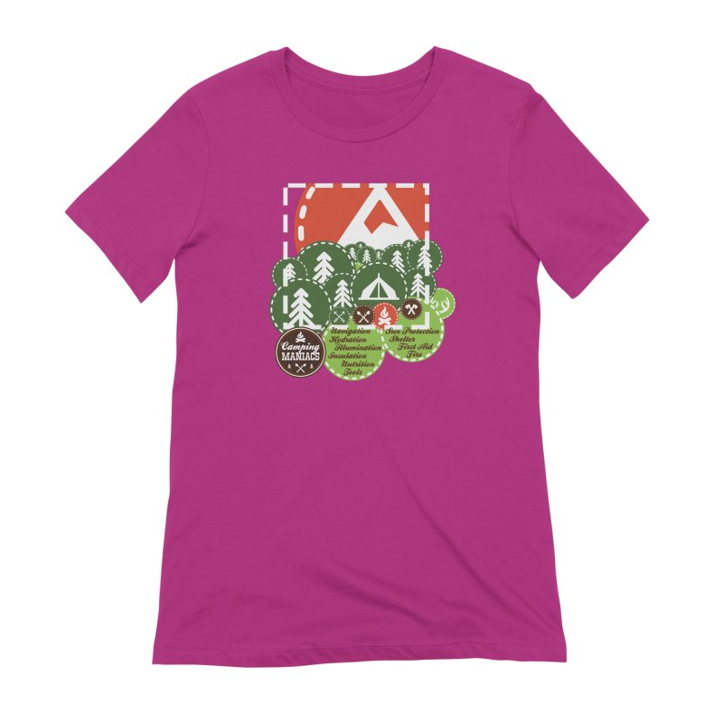 Camping Maniacs - Camp Women's Extra Soft T-Shirt by Casa Norte's Artist Shop
