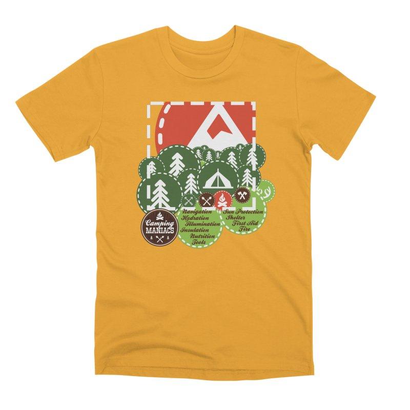 Camping Maniacs - Camp Men's Premium T-Shirt by Casa Norte's Artist Shop