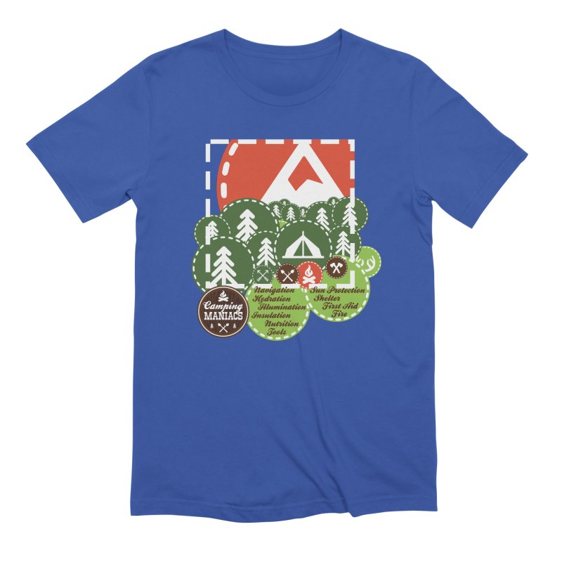 Camping Maniacs - Camp Men's Extra Soft T-Shirt by CasaNorte's Artist Shop