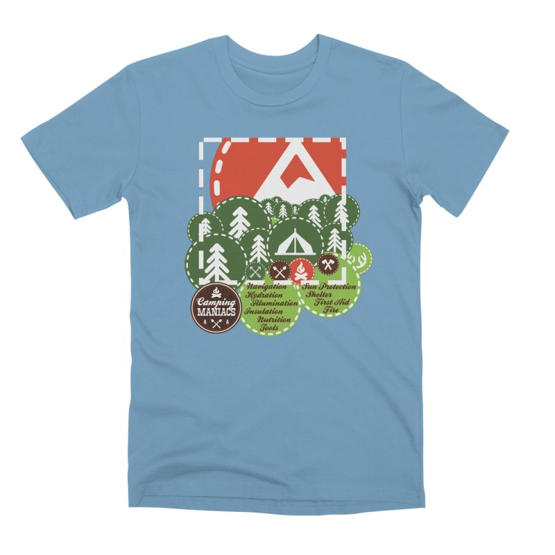 Camping Maniacs - Camp Men's Premium T-Shirt by Casa Norte's Artist Shop