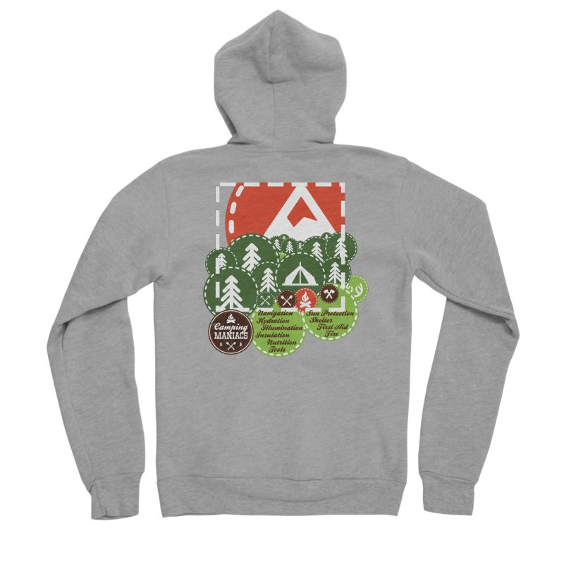 Camping Maniacs - Camp Men's Sponge Fleece Zip-Up Hoody by Casa Norte's Artist Shop