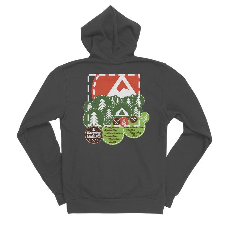 Camping Maniacs - Camp Women's Sponge Fleece Zip-Up Hoody by CasaNorte's Artist Shop