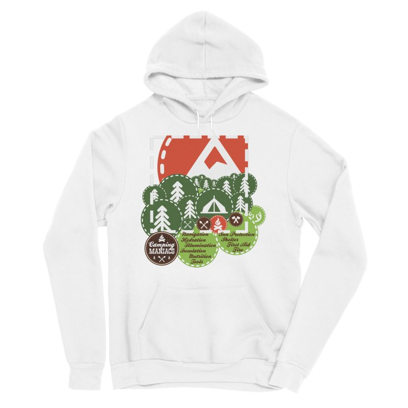 Camping Maniacs - Camp Men's Sponge Fleece Pullover Hoody by Casa Norte's Artist Shop