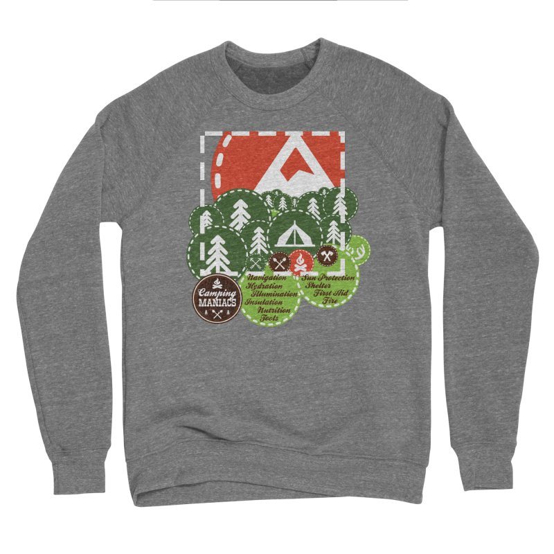 Camping Maniacs - Camp Men's Sponge Fleece Sweatshirt by Casa Norte's Artist Shop