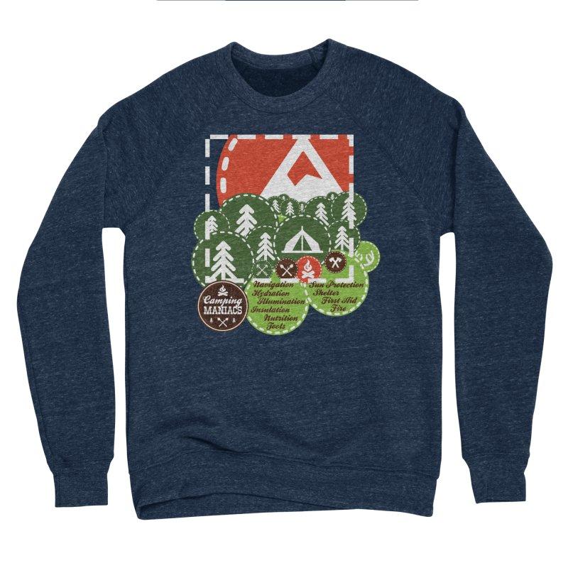 Camping Maniacs - Camp Men's Sponge Fleece Sweatshirt by Casa Norte's Artist Shop