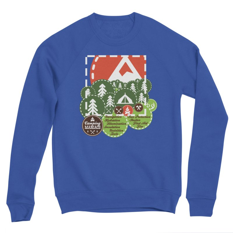 Camping Maniacs - Camp Women's Sponge Fleece Sweatshirt by Casa Norte's Artist Shop