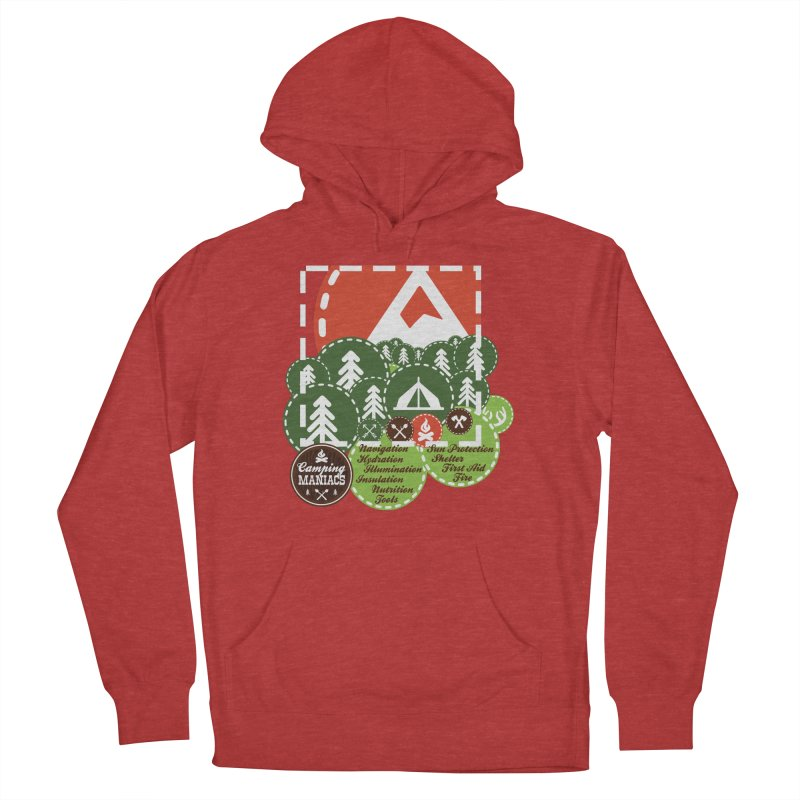 Camping Maniacs - Camp Women's French Terry Pullover Hoody by Casa Norte's Artist Shop