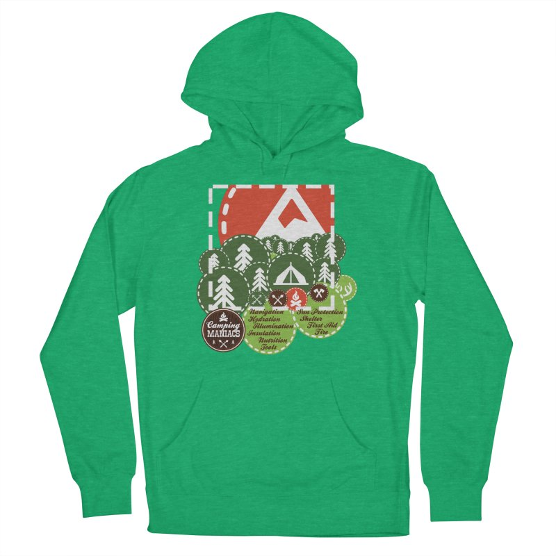 Camping Maniacs - Camp Men's French Terry Pullover Hoody by Casa Norte's Artist Shop