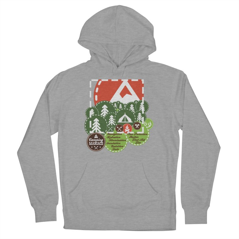 Camping Maniacs - Camp Men's French Terry Pullover Hoody by CasaNorte's Artist Shop