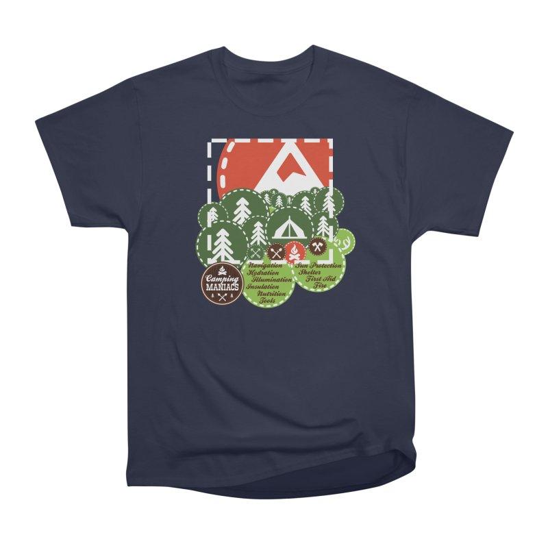 Camping Maniacs - Camp Women's Heavyweight Unisex T-Shirt by Casa Norte's Artist Shop