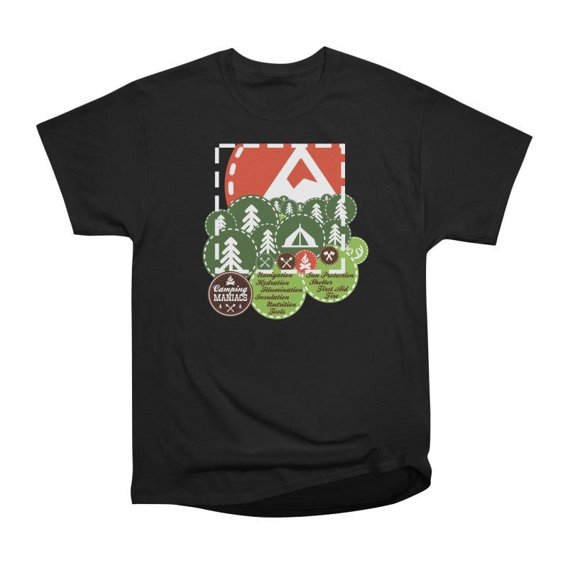Camping Maniacs - Camp Men's Heavyweight T-Shirt by Casa Norte's Artist Shop