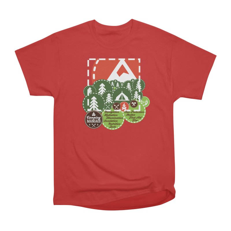 Camping Maniacs - Camp Men's Heavyweight T-Shirt by Casa Norte's Artist Shop