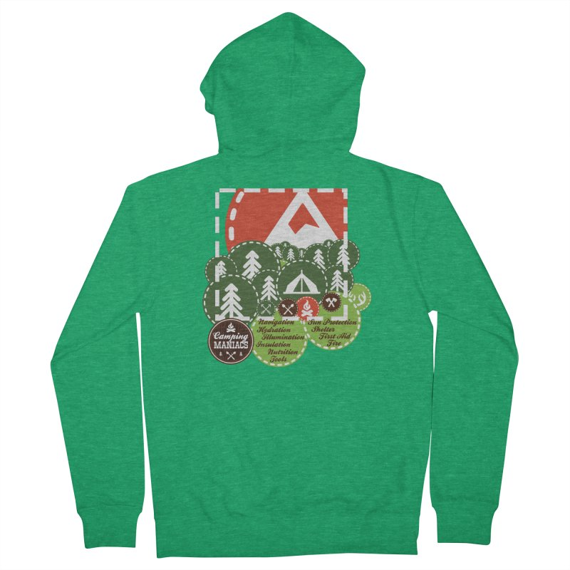 Camping Maniacs - Camp Women's Zip-Up Hoody by Casa Norte's Artist Shop