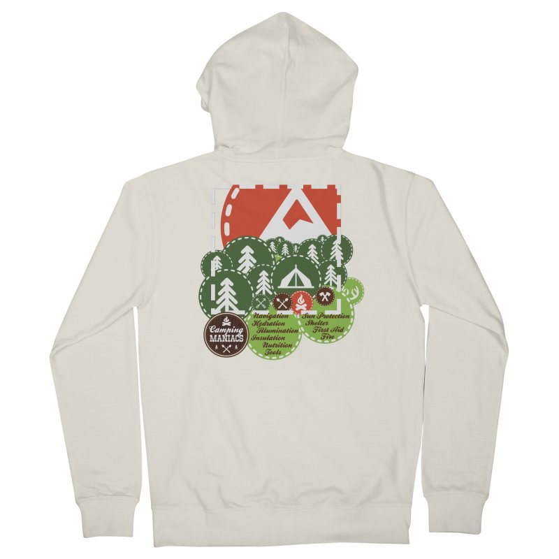 Camping Maniacs - Camp Women's French Terry Zip-Up Hoody by Casa Norte's Artist Shop