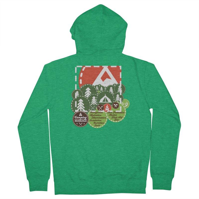 Camping Maniacs - Camp Men's Zip-Up Hoody by Casa Norte's Artist Shop