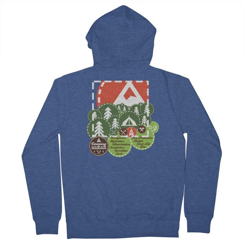 Camping Maniacs - Camp Men's French Terry Zip-Up Hoody by Casa Norte's Artist Shop