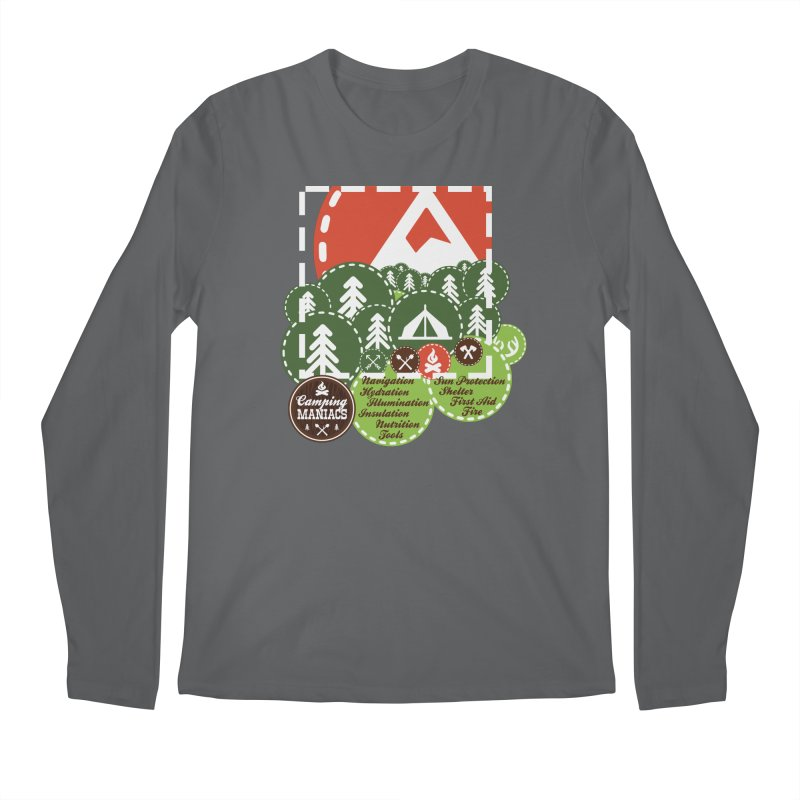 Camping Maniacs - Camp Men's Regular Longsleeve T-Shirt by Casa Norte's Artist Shop