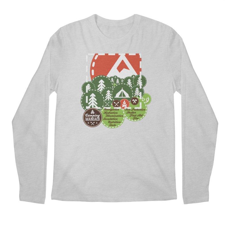 Camping Maniacs - Camp Men's Regular Longsleeve T-Shirt by Casa Norte's Artist Shop