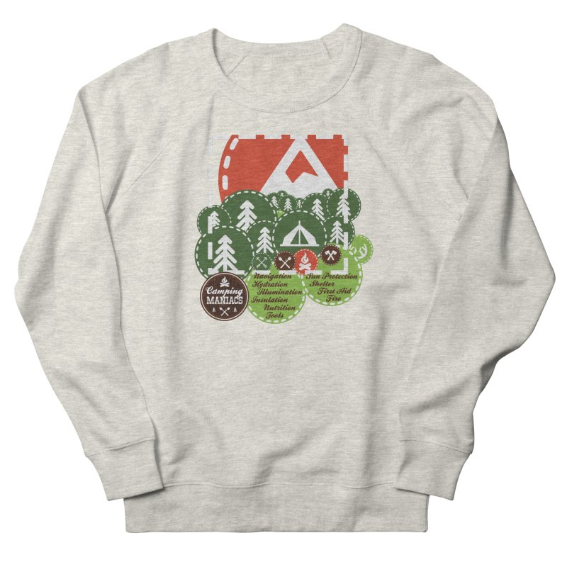 Camping Maniacs - Camp Men's French Terry Sweatshirt by Casa Norte's Artist Shop