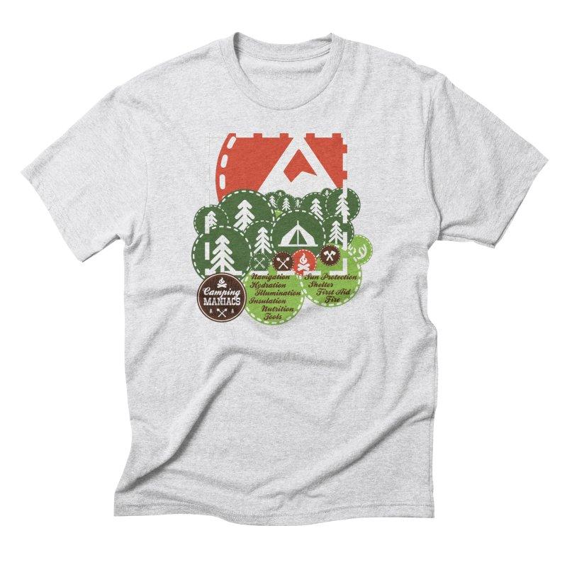 Camping Maniacs - Camp Men's Triblend T-Shirt by Casa Norte's Artist Shop