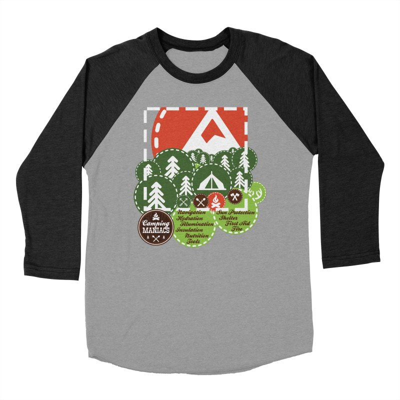 Camping Maniacs - Camp Women's Baseball Triblend Longsleeve T-Shirt by Casa Norte's Artist Shop