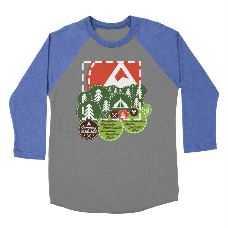 Camping Maniacs - Camp Men's Baseball Triblend Longsleeve T-Shirt by Casa Norte's Artist Shop