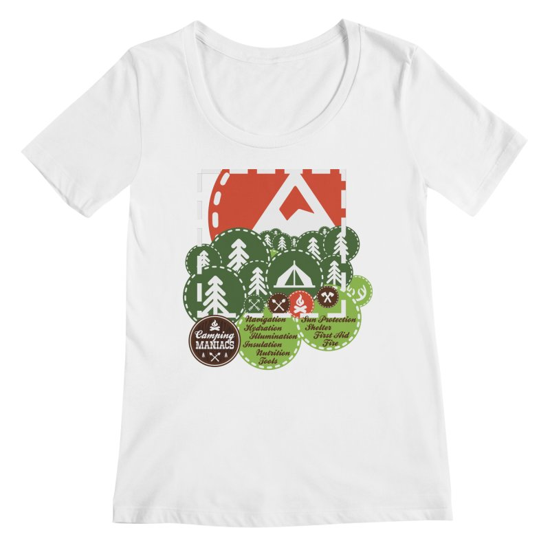 Camping Maniacs - Camp Women's Regular Scoop Neck by Casa Norte's Artist Shop