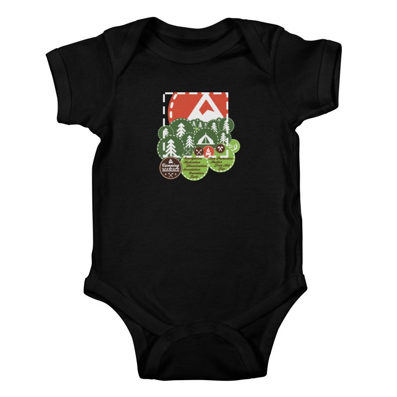 Camping Maniacs - Camp Kids Baby Bodysuit by Casa Norte's Artist Shop